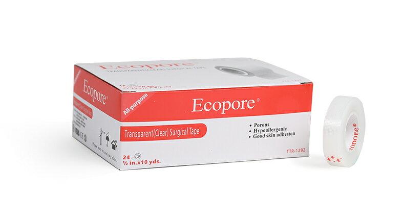 ~醫康 家~Ecopore透氣膠帶 透明^(易撕、低過敏^).5吋 ^(24入 盒^)