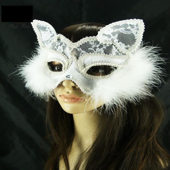 ~塔克~貓臉 貓女 狐狸面具 性感 貓面罩 蕾絲 面紗  眼罩  面罩 cosplay 表