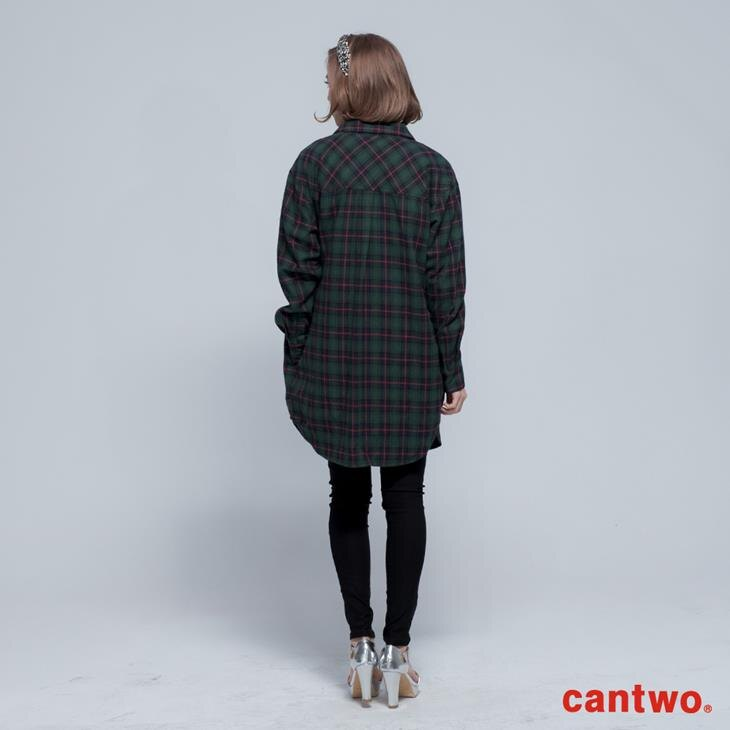 cantwo男友風格紋長版襯衫(共二色) 3