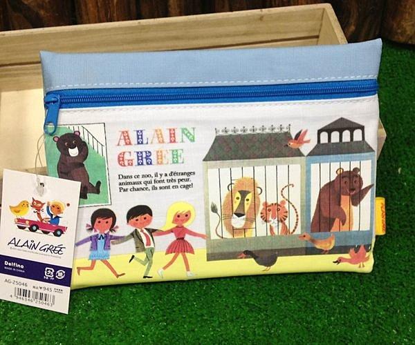 =優生活=日本進口 動物園手繪風格筆袋 收納袋 化妝包