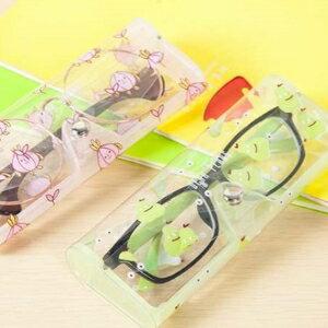 美麗大街【BF515E16】韓國小清新眼鏡盒卡通可愛女生透明可視眼鏡盒收納
