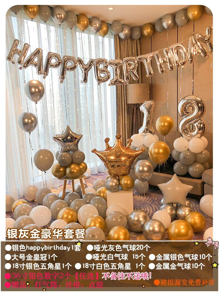 裝飾氣球 生日氣球快樂裝飾品派對場景布置驚喜女孩男孩兒童背景墻網紅道具【MJ10577】