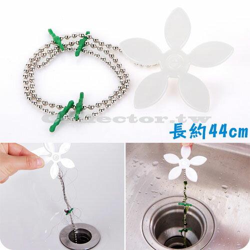 可愛小花造型水管疏通器 廚房浴室排水孔清潔鉤 下水道毛髮防堵清理器
