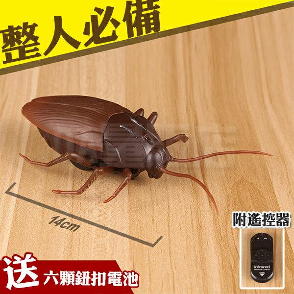 【附電池遙控器】紅外線遙控蟑螂電動蟑螂仿真蟑螂整人玩具惡搞電動模型禮物寵物(V50-2104)