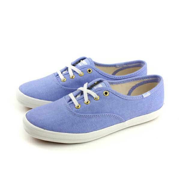 KedsCHAMPIONCHALKYCANVAS帆布鞋粉藍女鞋9182W122460no286