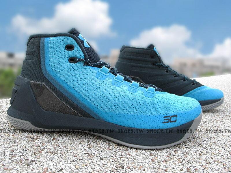 《下殺6折》Shoestw【1269279-458】UNDER ARMOUR CURRY 3 籃球鞋 CS30 藍黑 男生