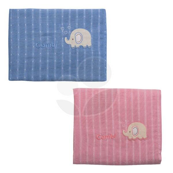 Combi康貝輕柔感-和風紗雙面蓋被-藍粉【悅兒園婦幼生活館】