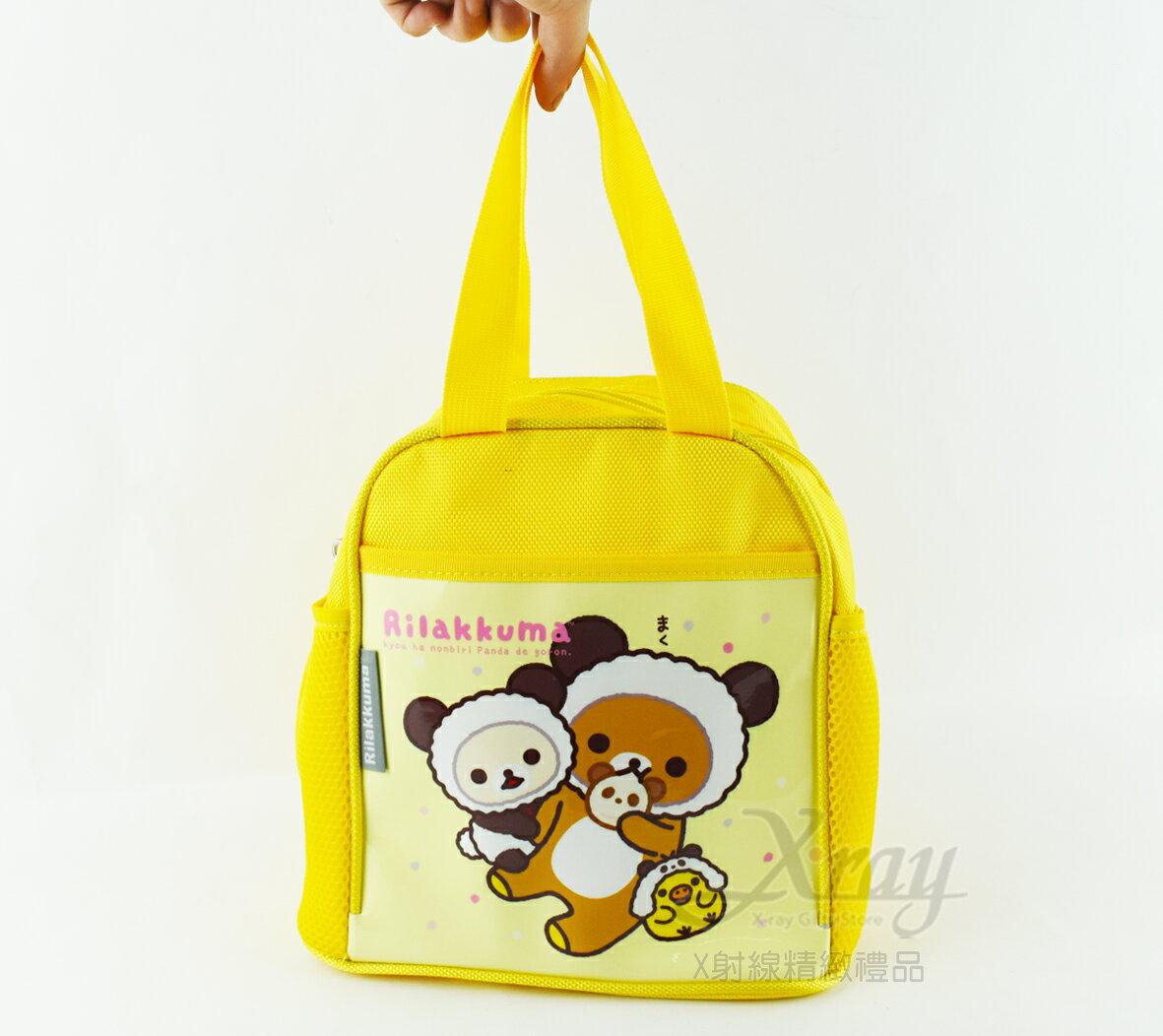 X射線【C206908】拉拉熊便當袋-熊貓(黃),書袋/購物袋/便當袋/手提袋/開學必備/補習袋