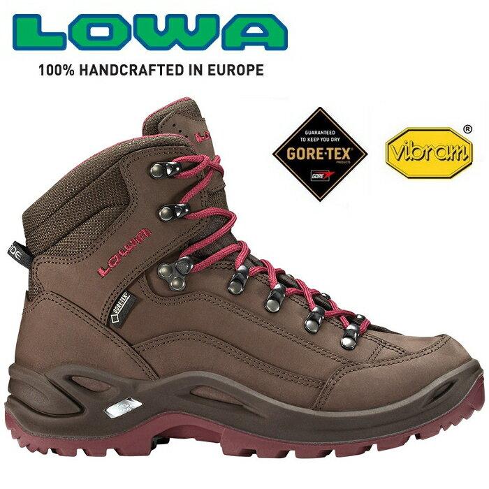 Lowa 中筒防水健行鞋 登山鞋 Renegade GTX Mid 女款 咖啡/桃紅色 LW320945 4251