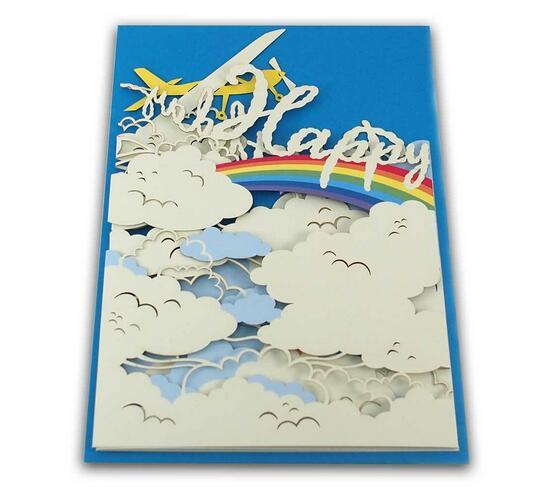 剪刀石頭紙 【立體JP生日卡】天空上的彩虹