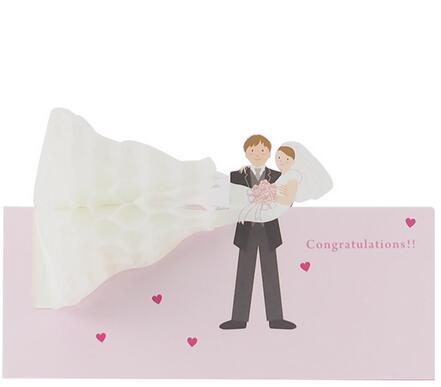 剪刀石頭紙 【立體JP結婚卡】恭喜~結婚快樂