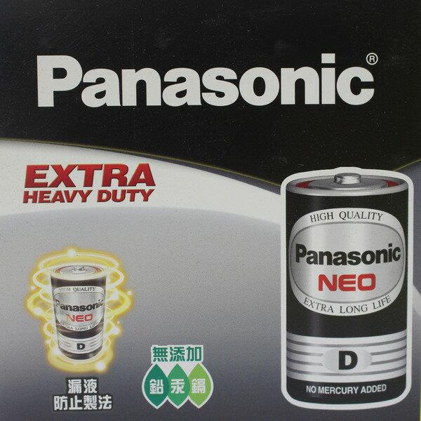 Panasonic 國際牌 D-1號環保電池(黑色)/一盒20顆入(促75) 1.5V 1號電池