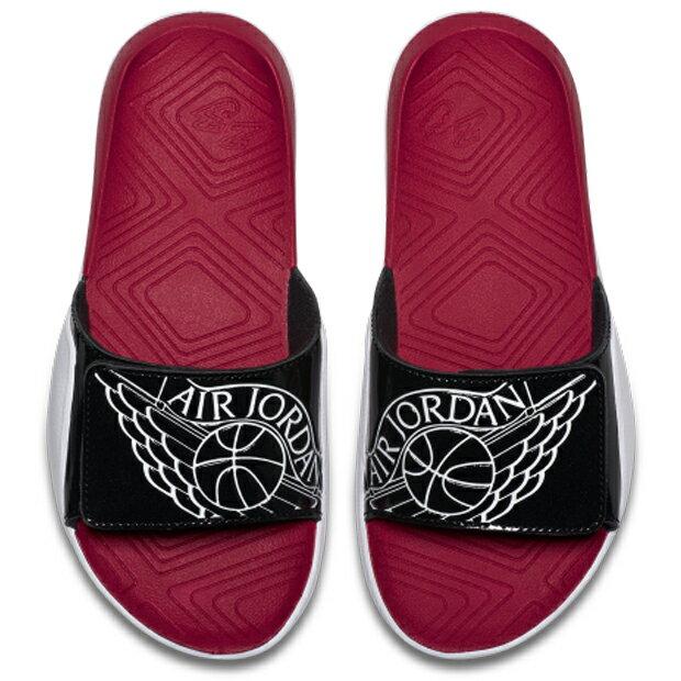 JORDAN HYDRO 7 (GS) 大童 女鞋 拖鞋 魔鬼氈 翅膀 紅 黑 【運動世界】 AA2516-001