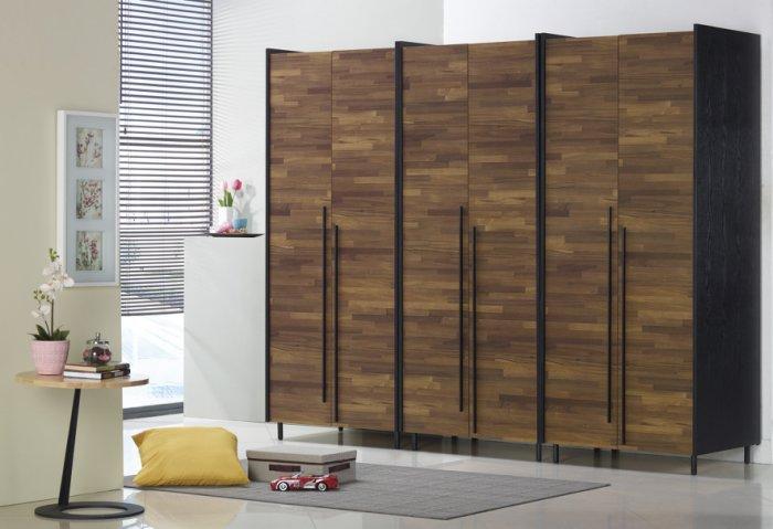 【尚品家具】JF-008-2 畢卡索2.6尺雙色雙吊衣櫃
