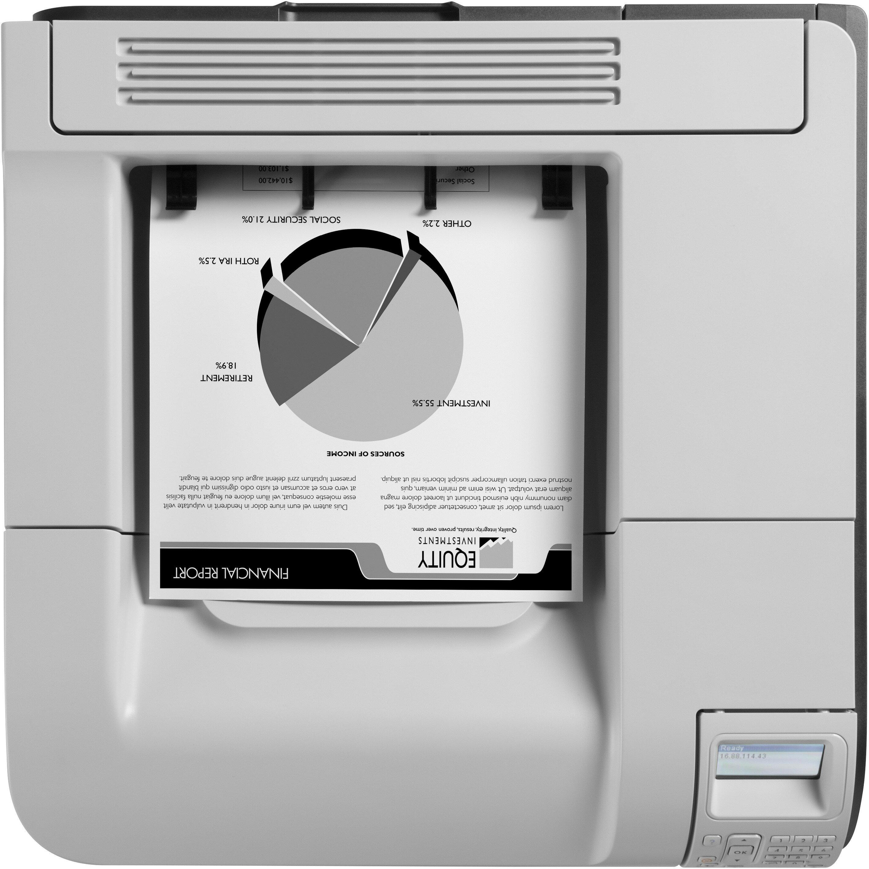 """HP LaserJet 600 M603N Laser Printer - Monochrome - 1200 x 1200 dpi Print - Plain Paper Print - Desktop - 62 ppm Mono Print - C6 Envelope, A4, A5, A6, B6 (JIS), B5 (JIS), 16K, Executive JIS, RA4, Letter, ... - 4.49"""", 8.27"""", 5.83"""", 4.13"""", 3.94"""", 8.50"""", ... 4"""