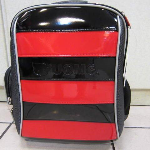 ~雪黛屋~UNME 日本品牌 小蜜蜂護脊透氣書包 #3096 立體造型放書本不折到書角 超輕型(紅)