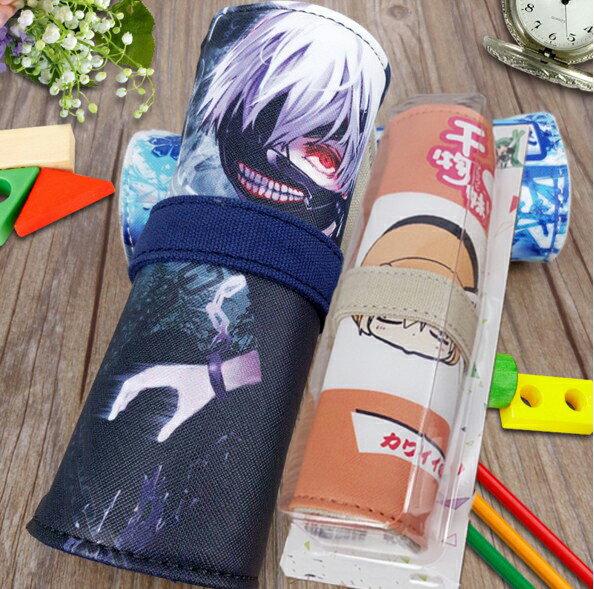動漫享世界~DS005~柯南海賊王銀狐動漫卷軸筆袋 收納袋 鉛筆盒 筆袋 文具袋 筆筒 大