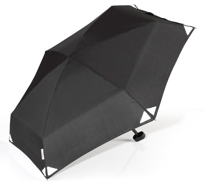 【鄉野情戶外用品店】 EuroSCHIRM |德國| Dainty 輕巧迷你晴雨傘-(黑/反光)/玻璃纖維輕便雨傘/1028-REF