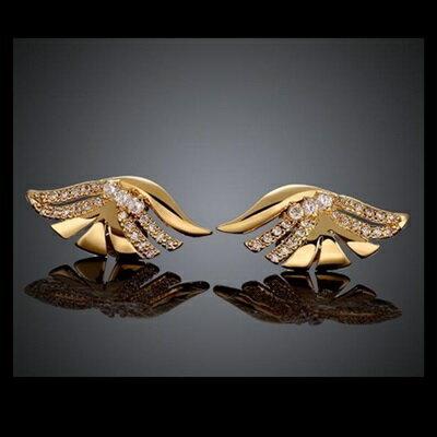 ~玫瑰金耳環鑲鑽純銀耳飾~ 奢華艷麗動人母親節生日情人節 女飾品73bu57~ ~~米蘭