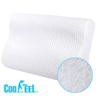 CooFeel 高效透氣可水洗3D纖維立體彈力枕(小)-白色(MG0150W)