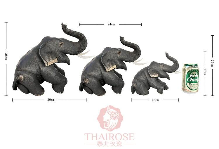 泰國工藝品柚木象實木雕大象擺件 吉祥招財鎮宅風水家居飾品擺設1入