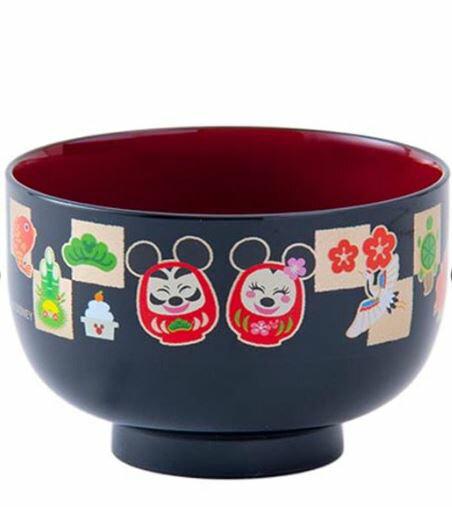 X射線【C315001】日本東京迪士尼代購-新年限定迪士尼狗狗和風湯碗,餐具組/碟子/餐桌/碗/湯碗/碟子/盤