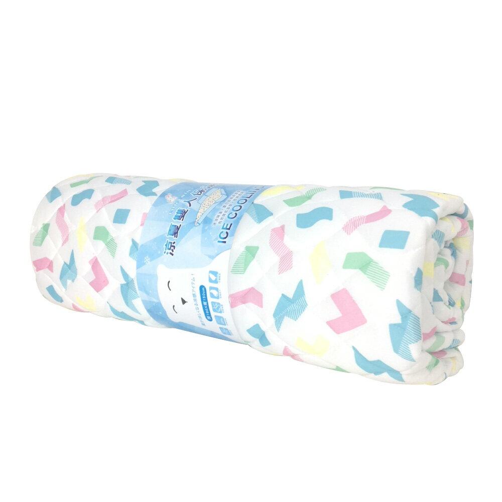 居家寢具 涼夏雙人保潔墊(約寬150x長186cm)SU7793/涼感保潔墊/束帶保潔墊/涼感墊