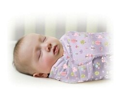 Summer Infant SwaddleMe懶人包巾0~3m S號 甜夢花園