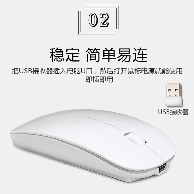 2.4G充電無線滑鼠超薄靜音商務無線滑鼠