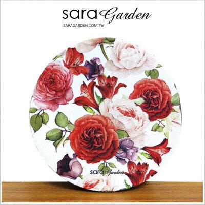 客製化 杯墊 透氣 防滑墊 隔熱墊 軟Q 玫瑰碎花