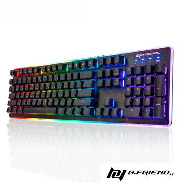 B.Friend GK3st RGB 遊戲炫光有線鍵盤 黑色