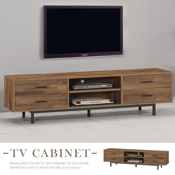 電視櫃《Yostyle》波文工業風6尺電視櫃視聽櫃收納櫃置物櫃客廳收納