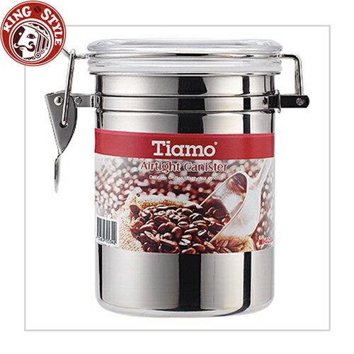 金時代書香咖啡 Tiamo ^#304不銹鋼密封罐 1磅 砂光款