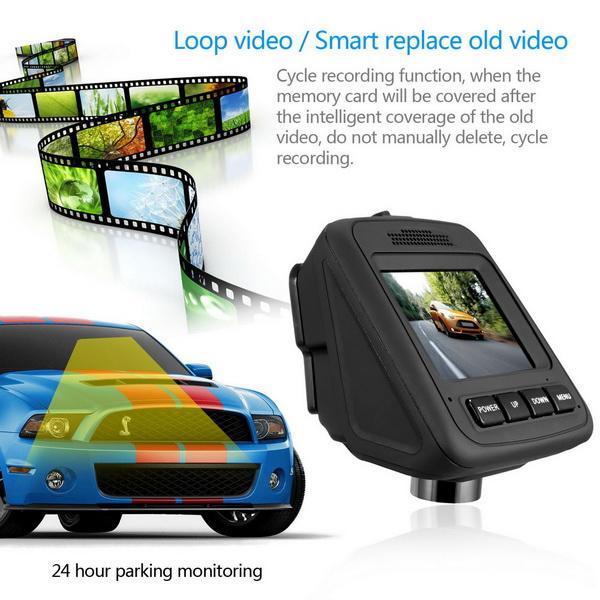 HD Wifi Dash Cam Dual Camera Dashcam 170 Angle Car Dash Camera Driving Recorder with Loop Recording G-Sensor 4