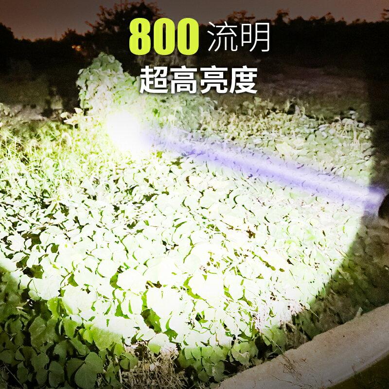 手電筒強光可充電超亮多功能手提氙氣100