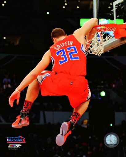 Blake Griffin 2010-11 NBA Slam Dunk Contest Action Photo Print (11 x 14) 4ffe1a931770114b8c9105b4c5ed3b5a