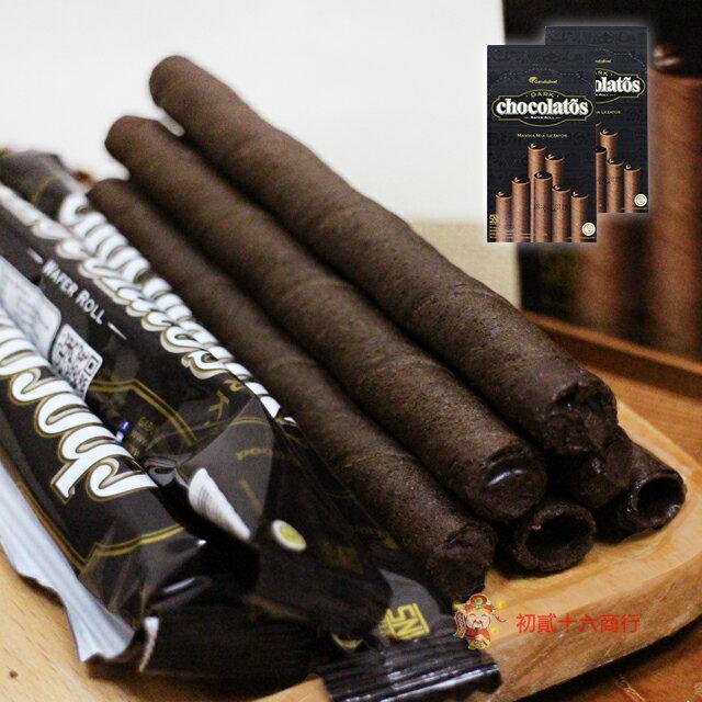 【0216零食會社】日日旺 黑雪茄巧克力威化捲320g_20入