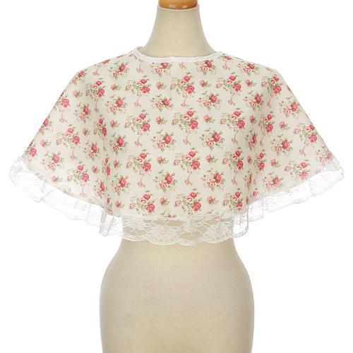 日本代購預購 日本製 優雅花紋 化妝圍巾 理容圍巾 彩妝圍巾 化妝披肩 650-142