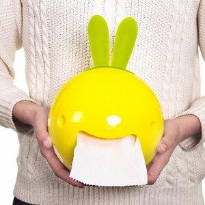 美麗大街【BF616E1E833】創意可愛時尚兔子浴室廁所吸盤式捲筒紙巾盒紙抽盒車用抽紙盒