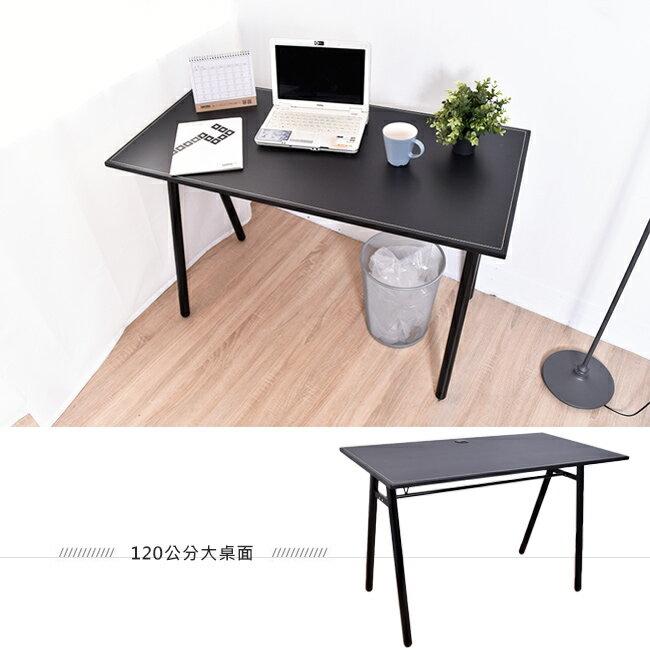 桌子 / 書桌 / 電腦桌  馬鞍工作桌電腦桌(附電線孔蓋) 【B15046】凱堡家居 4