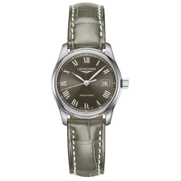 LONGINES浪琴表L22574713巨擘優雅羅馬經典機械腕錶黑面29mm