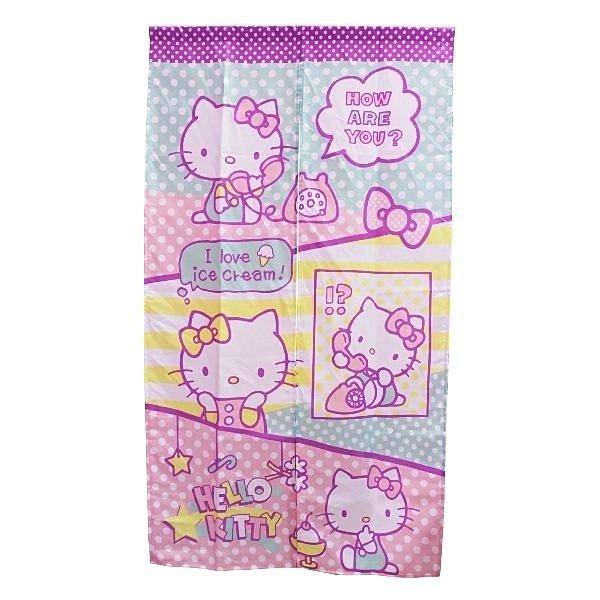 【真愛日本】14073100004 長門簾-趣味 三麗鷗 Hello Kitty 凱蒂貓 門簾 簾子 窗簾 布簾 正品