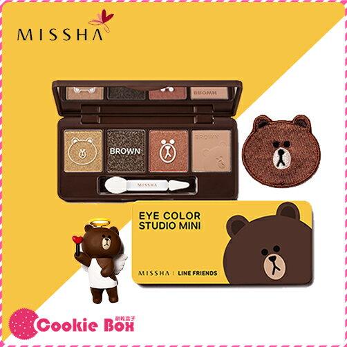 韓國 MISSHA LINE 聯名款 熊大 四色 眼影盤 7.2g 眼妝 煙燻妝 顯色 大地色 持久 *餅乾盒子*