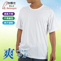 白朗仕 吸濕排汗 男 圓領 短袖上衣 台灣製 Bailangshi