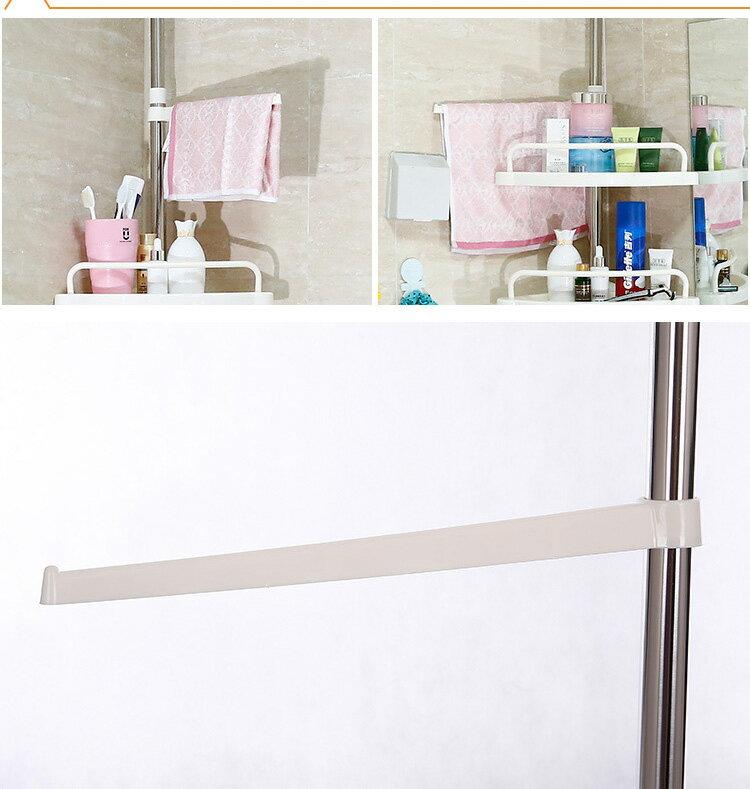 頂天立地不鏽鋼浴室四層可收縮置物架