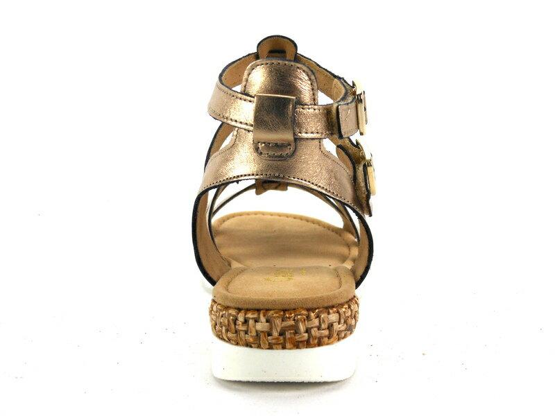 【GABOR 超殺優惠$1800↘ │全店免運】GABOR  歐美羅馬造型編織鞋  古銅金  涼鞋│扣帶│ 4