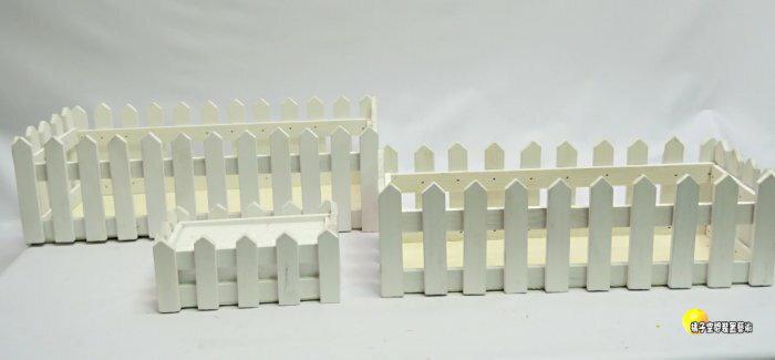 [橘子空間裝置藝術] 木製三合一柵欄花器.花槽.擺飾.收納☆人造花.插花用品.器材.花束.園藝資材.居家飾品.收納用品☆