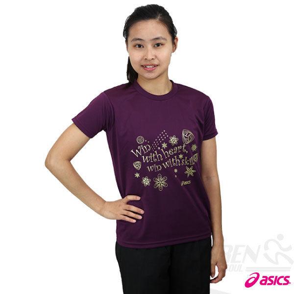 ASICS亞瑟士 女花漾排球短袖T恤(紫/S) 吸濕排汗【12/7單筆滿499結帳輸入序號 12SS100-4 再折↘100 | 單筆滿1200結帳輸入序號 12SS200-4 再折200】
