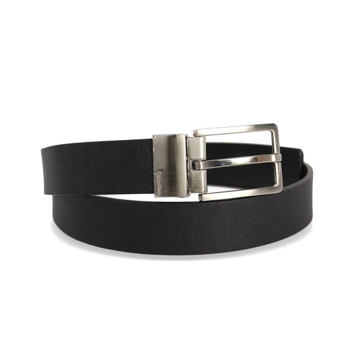 美國百分百【全新真品】Calvin Klein CK 男 真皮 皮帶 兩用 腰帶 2way 黑色 logo I082
