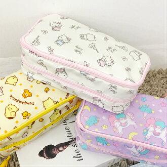 PGS7 日本三麗鷗系列商品 - 日本 三麗鷗 防水 筆袋 化妝包 鉛筆盒 Kitty 雙子星 布丁狗【SIA7426】